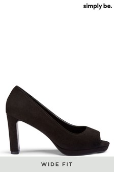 Simply Be Wide Fit Peep-Toe Court Shoe