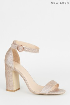 New Look Glitter 2 Part Block Heels