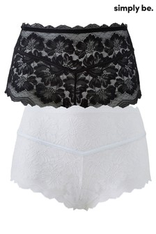 Simply Be Katie 2 Pack Lace Midi Short