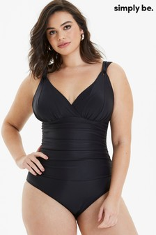 Simply Be Magisculpt Black Lose Up To An Inch Shaping Swimsuit