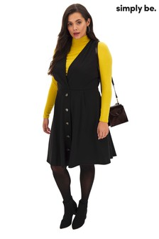 Simply Be Wrap Pinafore Dress