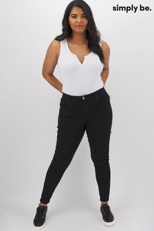 Simply Be Lucy High Waist Skinny Jeans