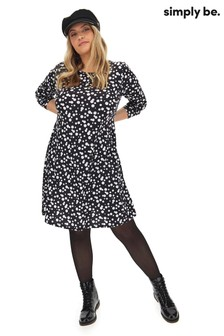 Simply Be Curve Long Sleeves Swing Dress