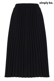 Simply Be Pleated Skirt