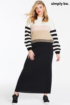 Simply Be Jersey Maxi Tube Skirt