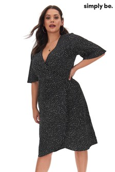Simply Be Frill Wrap Dress