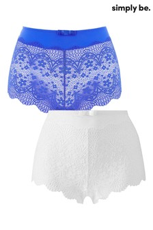 Simply Be Lottie Lace Matching Briefs - Pack Of 2