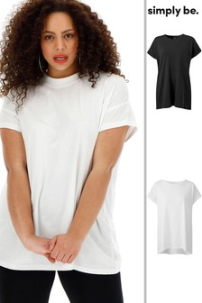 Simply Be Womens Cut Out Neck T-Shirt