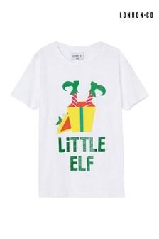 London Co T-Shirt mit Little Elf-Print,Familienkollektion