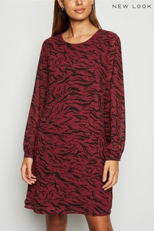 New Look Chiffon Tiger Print Tunic Dress