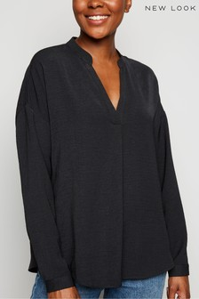 New Look Collarless Overhead Shirt