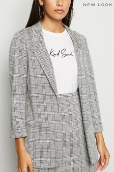 New Look Check Jersey Blazer