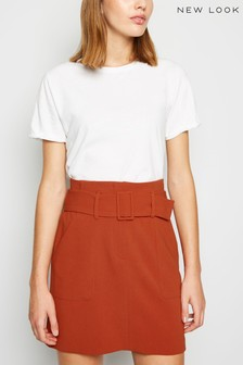 New Look Belted Utility Skirt