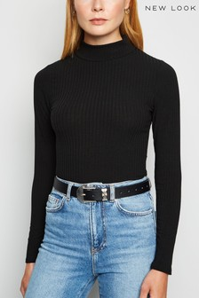 New Look Long Sleeve Turtle Neck Rib Body