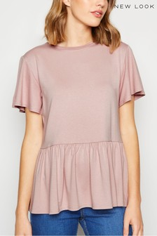 New Look Crepe Peplum T-Shirt