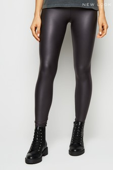 New Look Coated Wet Look Leggings