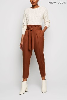 New Look Paperbag Trousers