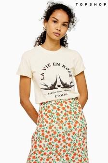 Topshop La Vie En Rose T-Shirt