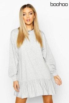 שמלת סווטשרט עם שרוול ארוך של Boohoo