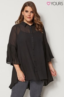 Yours Curve Pleated Hem Shirt