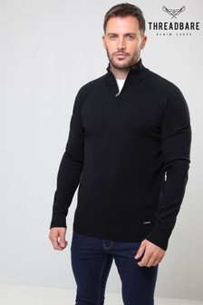 Threadbare Zip Neck Knit Jumper