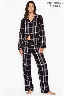 Victoria's Secret Cotton Flannel Long PJ Set