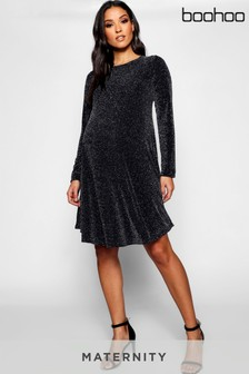 Boohoo Maternity Glitter Dress