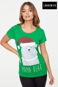 London Co Ladies Organic Christmas T-Shirt