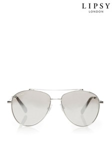 Lipsy Smoked Lense Aviator Sunglasses