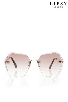 Lipsy Rimless Oversized Sunglasses
