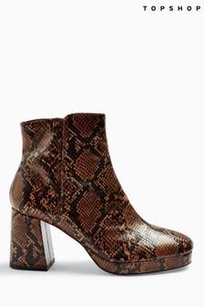 Topshop Eddie Snake Platform Boots