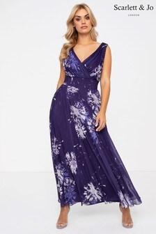 Scarlett & Jo Dandelion Print Maxi Dress