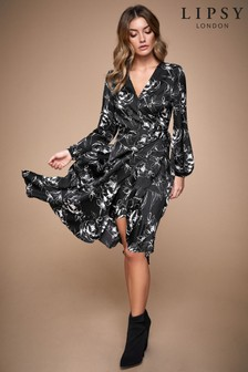 Lipsy Printed Wrap Dress