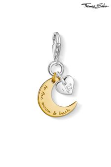 Thomas Sabo Moon and Heart Charm Pendant