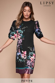 Lipsy Petite Puff Sleeve Shift Dress