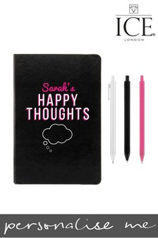 Personalised A5 Notebook 3 Rainbow Pens By ICE London