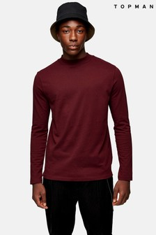 Topman Turtle Neck Long Sleeve T-Shirt