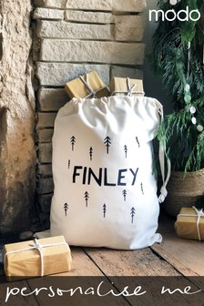 Personalised Name And Nordic Tree Sack By Modo Creative
