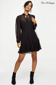 Miss Selfridge Flock Smock Mini Dress