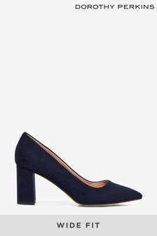 Dorothy Perkins Wide Fit Block Heel Court Shoe
