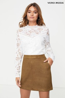 Vero Moda Faux Suede Mini Skirt