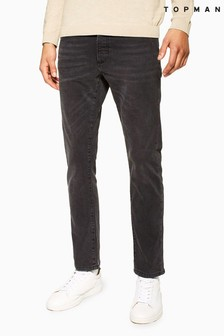 Topman Washed Stretch Slim Jeans