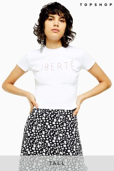 Topshop Tall Liberte Stitch T-Shirt