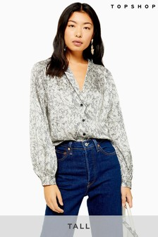 Topshop Tall Smudge Spot Shirt