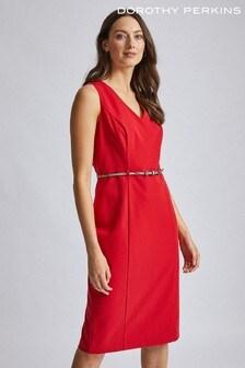 Dorothy Perkins Belted Structured Dress