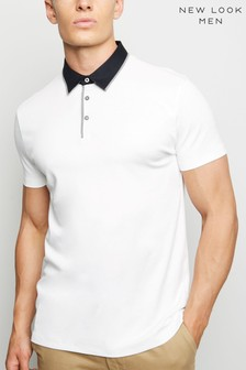 New Look Contrast Collar Polo Shirt