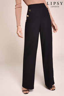 Lipsy Military Button Trousers