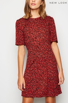 New Look Spot Jersey Mini Dress
