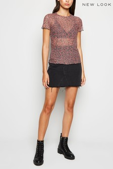 New Look Floral Mesh T-Shirt