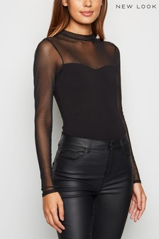 New Look Mesh Panel Bodysuit